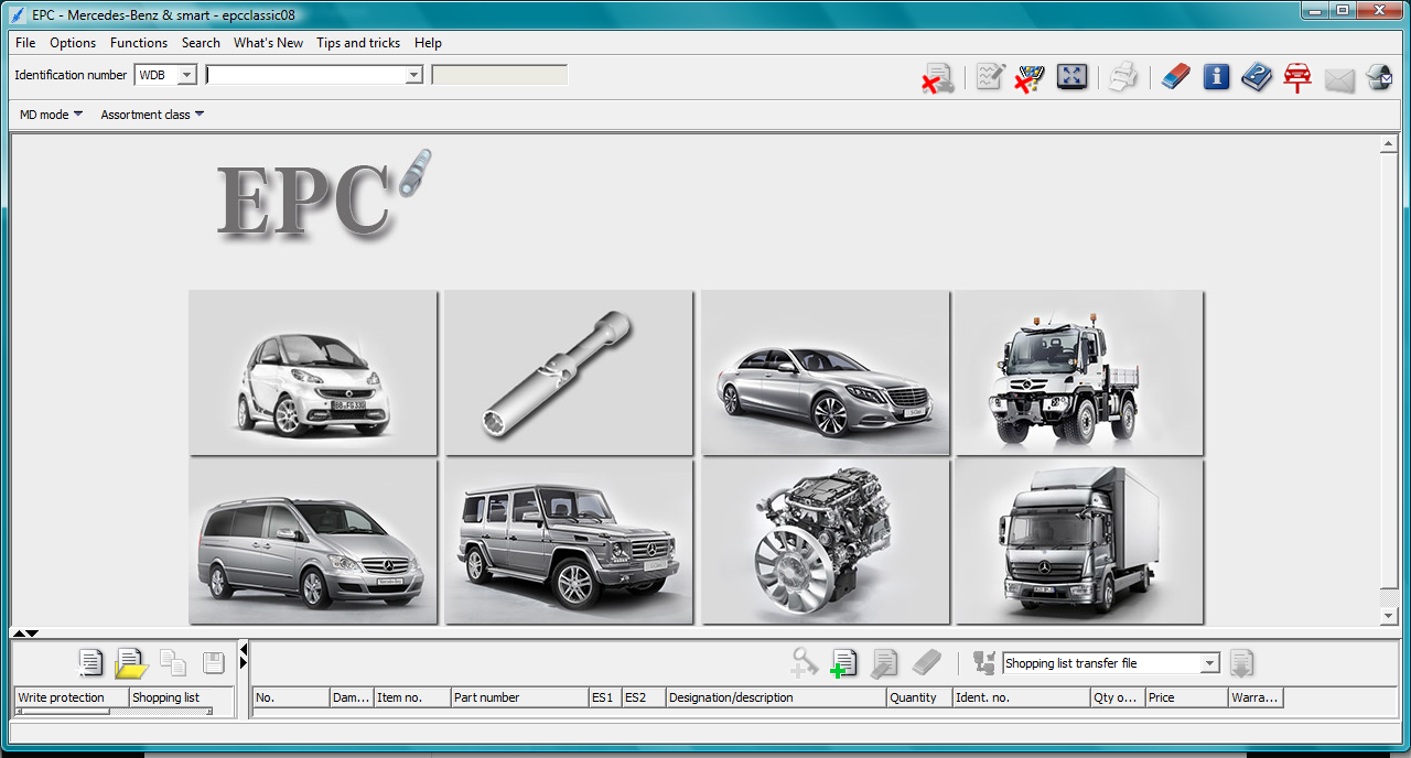 Electronic parts catalogue epc mercedes benz car club for Auto parts for mercedes benz