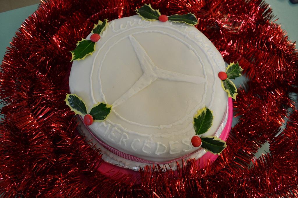 The Christmas cake kindly baked by Shirley Hall