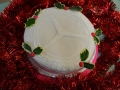 The Christmas cake kindly baked by Shirley Hall