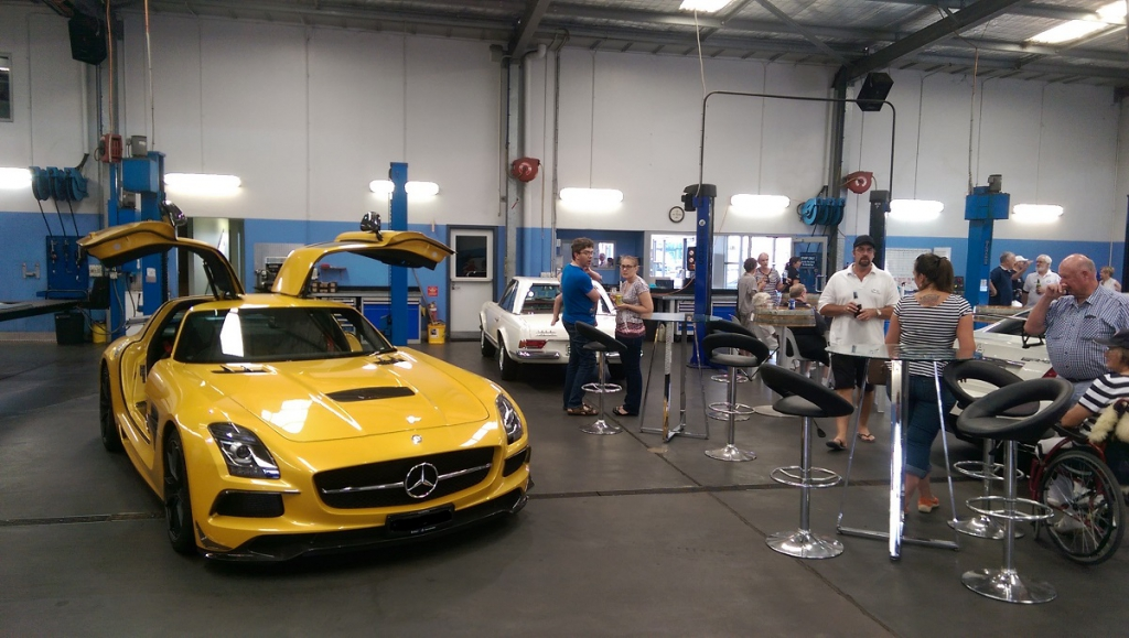 The centrepice for the day was the ultra-rare AMG SLS Black Series
