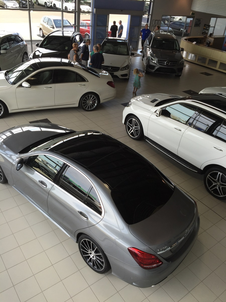 Inside the showroom at Mercedes-Benz Bunbury was plenty of new metal on display