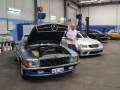 Out in the workshop was a feast for the eyes, including this immaculate R107 560SL and C209 CLK63 Black Series