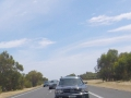 Members cars align like the stars on the Kwinana Freeway