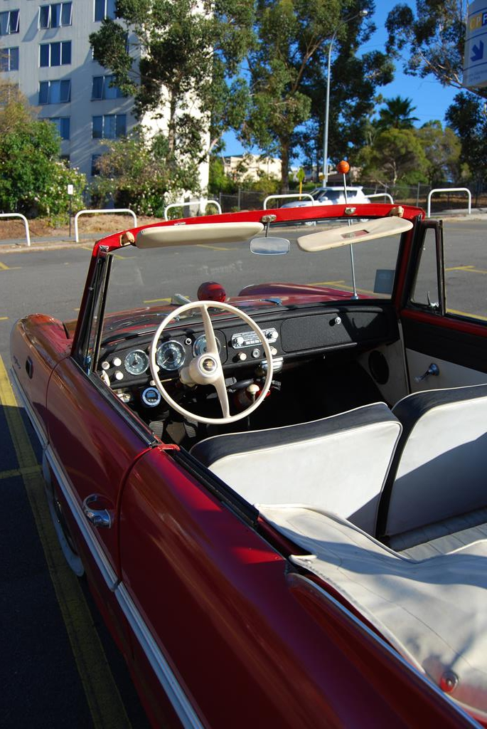 An Amphicar made an appearance at the start