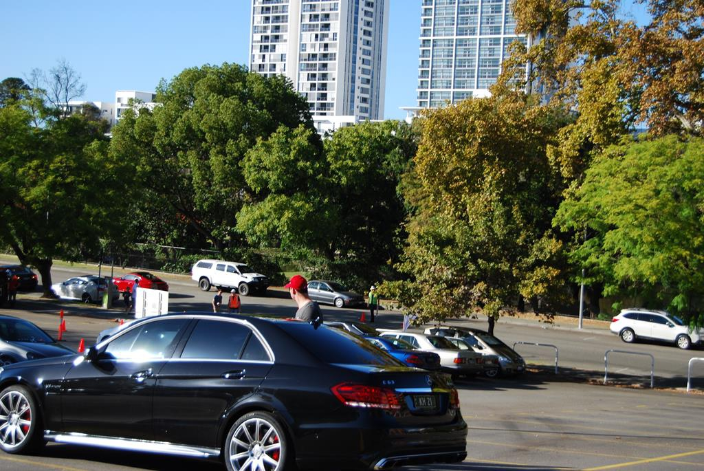 Cars gather in East Perth