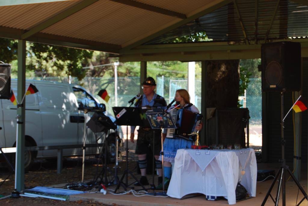 Alpen Duo provided fine entertainment for the day